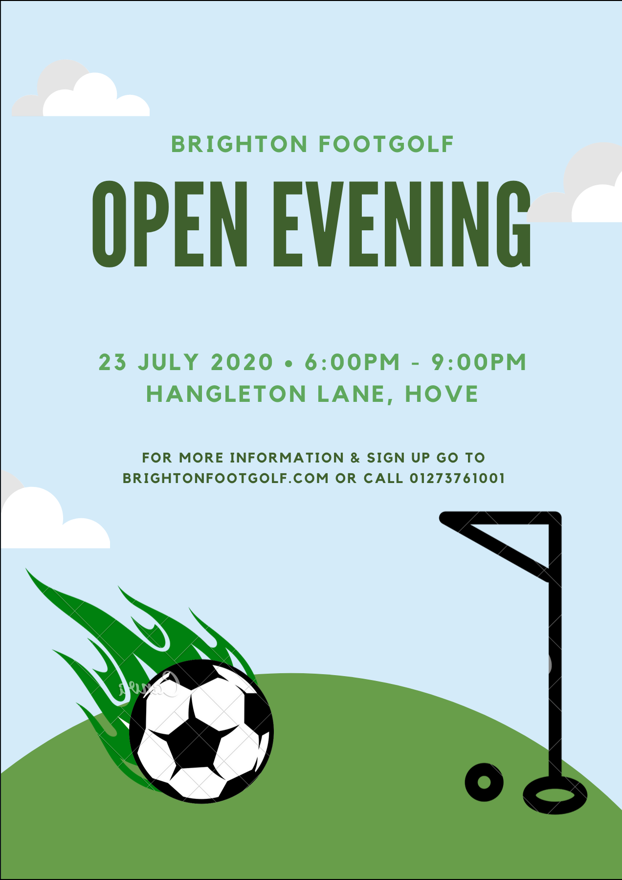 Brighton Footgolf Open Evening